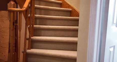 Capped Stairs Installation